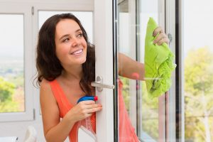 Window Cleaning With Hand